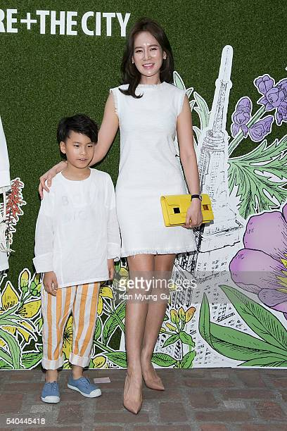 Miss Korea Re HyeWon attends the photocall for 'KIEHL'S Nature The City Art Exhibition' at the Fifty Fifty Gallery on June 9 2016 in Seoul South Korea