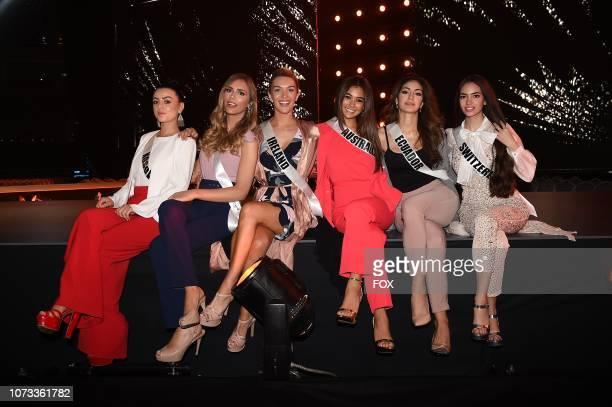 Miss Kosovo Zana Berisha Miss Spain Angela Ponce Miss Ireland Grainne Gallanagh Miss Australia Francesca Hung Miss Equador Virginia Limongi and Miss...