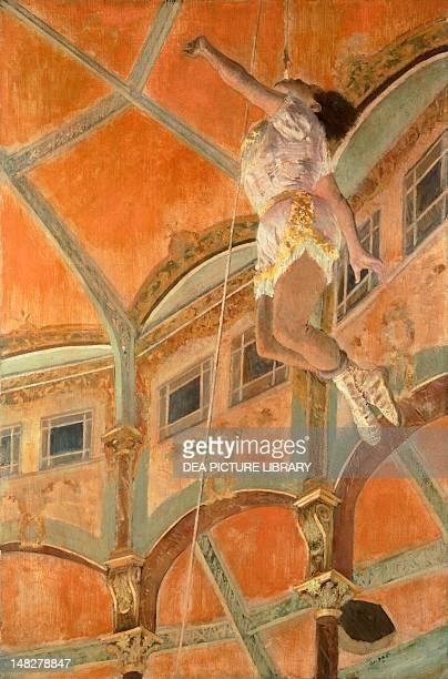Miss La La at the Cirque Fernando by Edgar Degas oil on canvas 117x775 cm London National Gallery