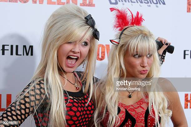 Miss Lolitas arrive for Premiere Of Dimension Films' Halloween II at Grauman's Chinese Theatre on August 24 2009 in Hollywood California