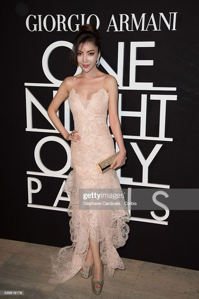 Miss Loulou attends the Giorgio Armani Prive show as part of Paris Fashion Week Haute Couture Spring/Summer 2014, at Palais de tokyo in Paris.