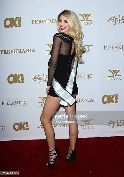 Miss Malibu 2016 Brooke Ashlynn Miller attends the OK Magazine's annual pre GRAMMY party at Lure on February 12 2016 in Hollywood California