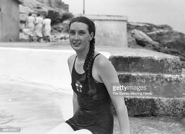 Miss Margaret Dovey now Margaret Whitlam at the New South Wales Womens Swimming Championships held at Bondi Baths on 30 November 1939 SMH NEWS...