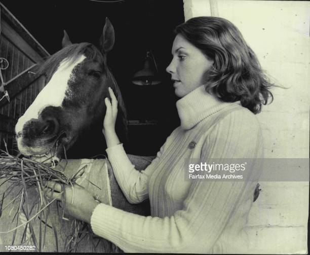 Miss Margo Albert pictured with mare Myree Gold Coin The horse had a bad accident at the Royal Eater Show and was operated by vets Miss Albert has...