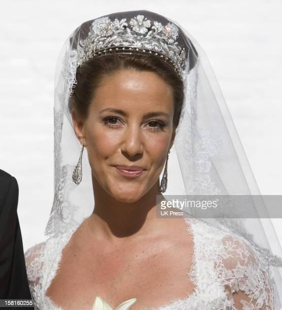 Miss Marie Cavallier At Her Wedding To Prince Joachim Of Denmark At Mogeltonder Church In Mogeltonder, Denmark.