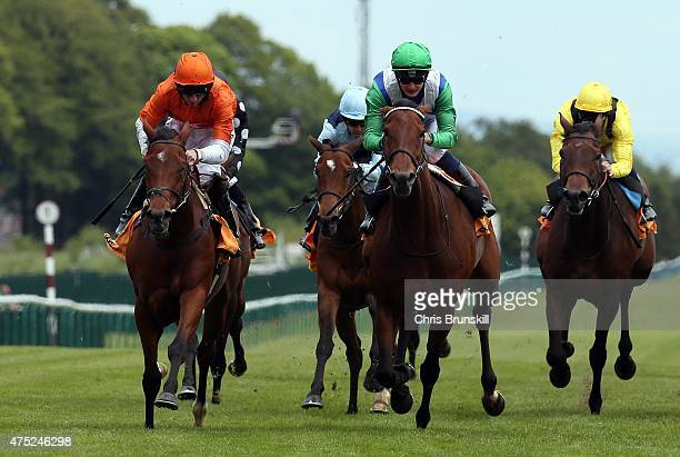 Miss Marjurie ridden by Paul Hanagan races clear to win The 888sport Pinnacle Stakes at Haydock Racecourse on May 30 2015 in Haydock England