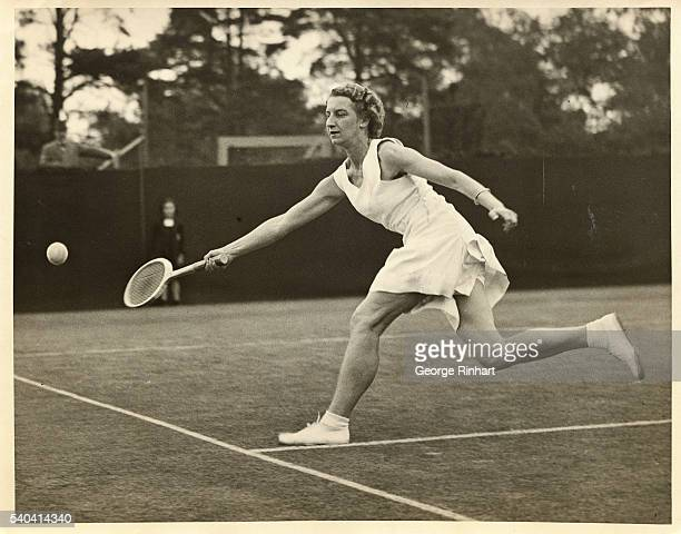 Miss Mary Hardwick who beat Mrs Wills Moody in play against Mrs Heine Miller who beat her in the semifinal of the St George's Hill Tennis Tournament...