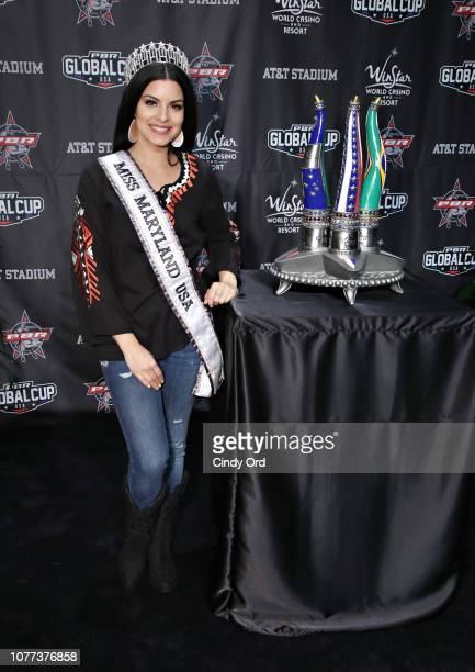 Miss Maryland USA 2019 Mariela Pepin attends the 2019 Professional Bull Riders Monster Energy Buck Off at the Garden at Madison Square Garden on...
