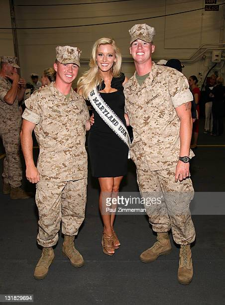 Miss Maryland USA Allyn Rose attends the 2011 Fleet Week kick off event with the Miss USA contestants at Pier 88 on May 25 2011 in New York City