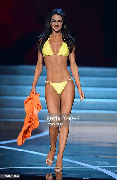 Miss Maryland USA Kasey Marie competes in the swimsuit competition during the 2013 Miss USA pageant at PH Live at Planet Hollywood Resort Casino on...