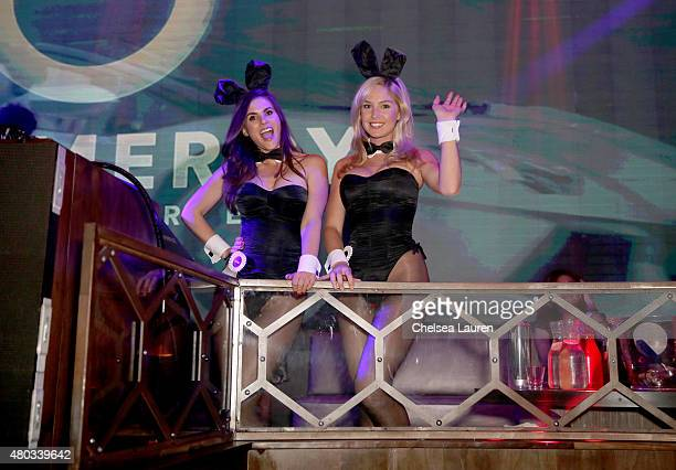 Miss May 2006 Alison Waite and Miss February 2008 Michelle McLaughlin attend Playboy and Gramercy Pictures' Self/less party during ComicCon weekend...