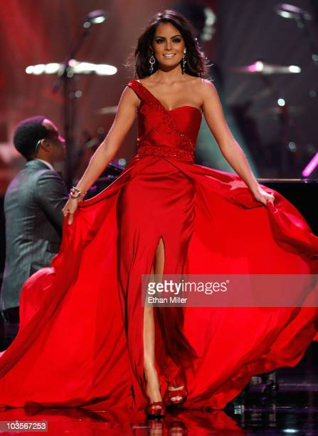 Miss Mexico 2010 Jimena Navarrete competes in the evening gown competition during the 2010 Miss Universe Pageant at the Mandalay Bay Events Center...