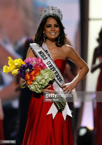 Miss Mexico 2010 Jimena Navarrete walks the stage after being named the 2010 Miss Universe during the 2010 Miss Universe Pageant at the Mandalay Bay...