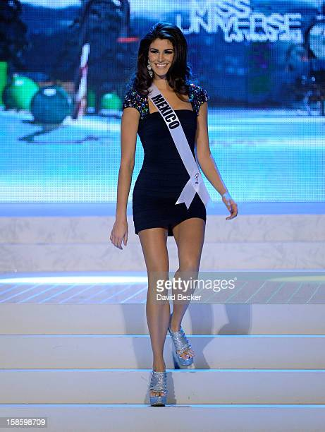 Miss Mexico 2012 Karina Gonzalez is introduced during the 2012 Miss Universe Pageant at PH Live at Planet Hollywood Resort Casino on December 19 2012...