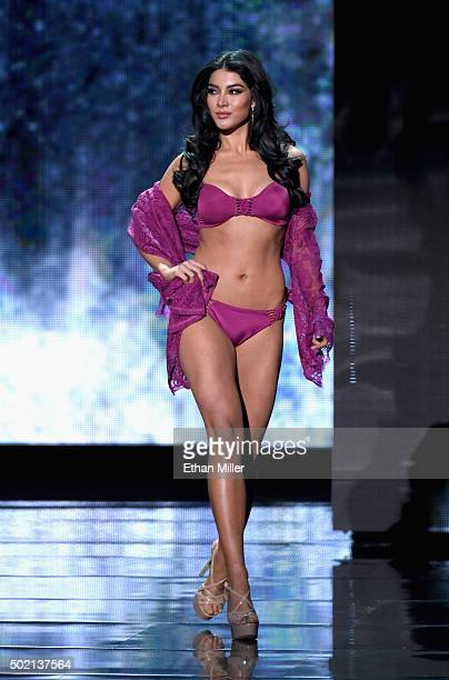 Miss Mexico 2015 Wendy Esparza competes in the swimsuit competition during the 2015 Miss Universe Pageant at The Axis at Planet Hollywood Resort...