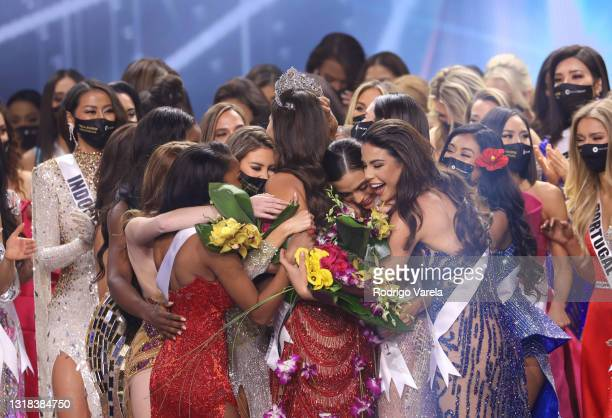 Miss Mexico Andrea Meza is crowned Miss Universe 2020 onstage at the 69th Miss Universe competition at Seminole Hard Rock Hotel & Casino on May 16,...