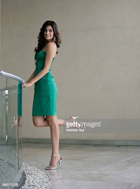 Miss Mexico Espinoza Marroquin Anagabriela poses on the day before the 58th Miss World Final at Sandton Convention Centre on December 12, 2008 in...