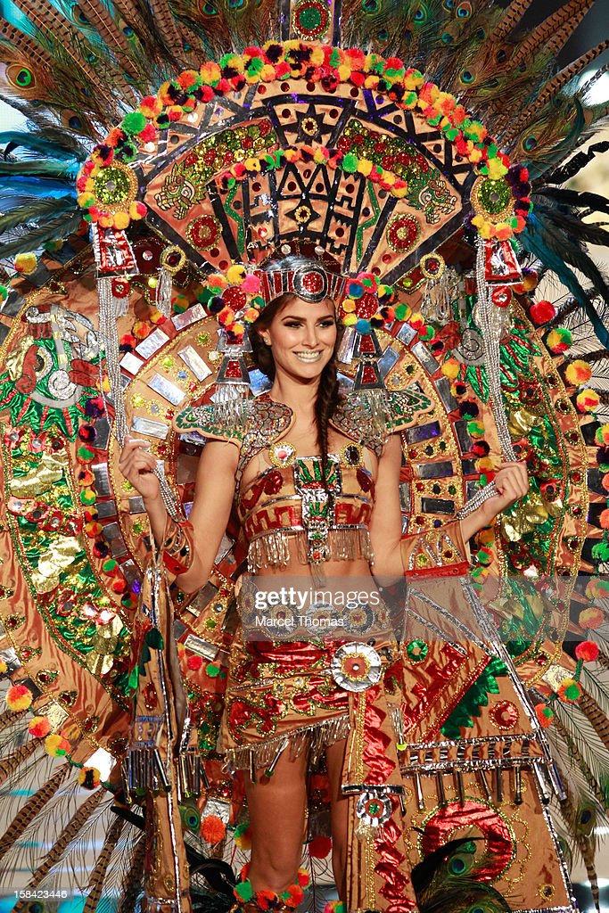 Miss Mexico Karina Gonzalez displays her national costume at the 2012 Miss Universe National Costume event at Planet Hollywood Casino Resort on December 14, 2012 in Las Vegas, Nevada.