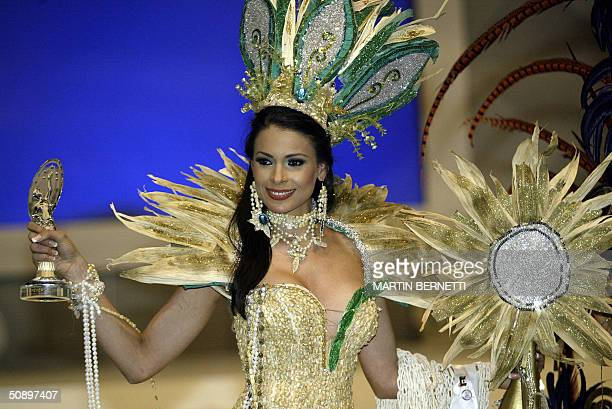 Miss Mexico Rosalva Luna won the second place in the category for traditional clothes in Quito 25 May 2004 The Miss Universe 2004 contest will take...