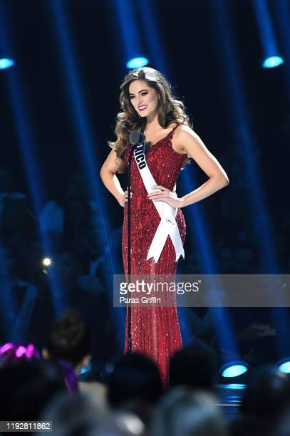 Miss Mexico Sofía Aragón appears onstage at the 2019 Miss Universe Pageant at Tyler Perry Studios on December 08 2019 in Atlanta Georgia