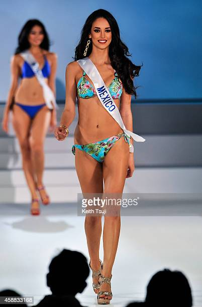 Miss Mexico Vianey Vazquez competes during The 54th Miss International Beauty Pageant 2014 at Grand Prince Hotel New Takanawa on November 11 2014 in...
