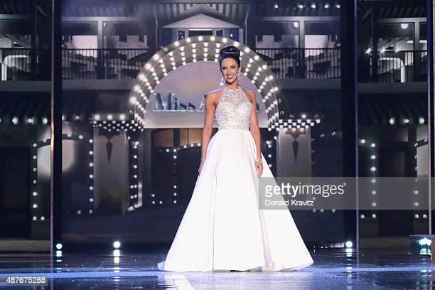 Miss Michigan, Emily Kieliszewski attends the Thursday Night Preliminaries - 2016 Miss America Competition at Atlantic City Boardwalk Hall on...