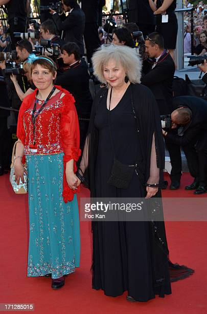 Miss Ming and Yolande Moreau attend the 'Nebraska' Premiere The 66th Annual Cannes Film Festival Day 9 at Palais des Festivals on May 23 2013 in...