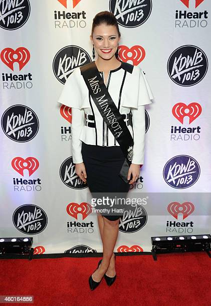 Miss Minnesota 2014 Savannah Cole attends 1013 KDWB's Jingle Ball 2014 presented by Sky Zone Indoor Trampoline Park and Allstate at Xcel Energy...