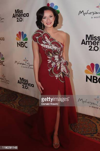 Miss Minnesota 2019 Kathryn Kueppers walks the Red Carpet at Mohegan Sun on December 19 2019 in Uncasville Connecticut