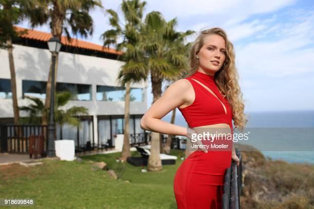Miss Mitteldeutschland 2018, Theresia Weidemann on February 14, 2018 in Fuerteventura, Spain.