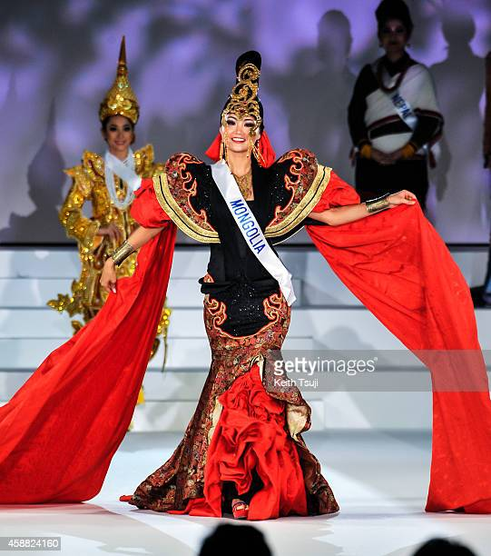 Miss Mongolia Bayartsetseg Altangerel competes during The 54th Miss International Beauty Pageant 2014 at Grand Prince Hotel New Takanawa on November...