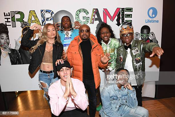 Miss Mulatto Nova Mani Jermaine Dupri Flau'jae Deetranada and King Roscoe attend Lifetime Presents 'Rap Game' Season 3 Premiere Event at Wish...