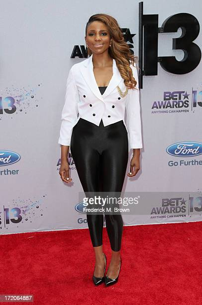 Miss Mykie attends the 2013 BET Awards at Nokia Theatre LA Live on June 30 2013 in Los Angeles California