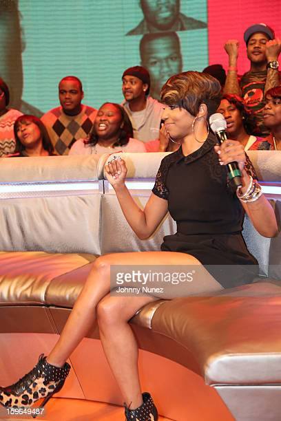 Miss Mykie hosts BET's '106 Park' at BET Studios on January 17 2013 in New York City