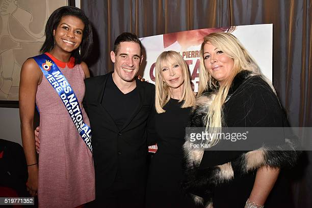 Miss Nationale 1st Dauphine Nathanaelle Audel Giovanni Crochet Leducq Patricia CharpentierÊand Loana Petrucciani attend 'Guitar Tribute' by Golden...