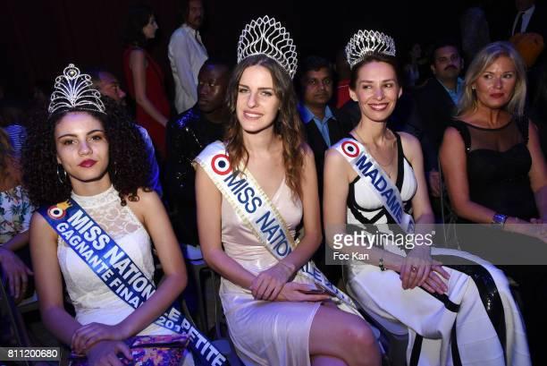 "Miss Nationale Petite 2017, Miss Nationale 2017 Anaelle Bagot, Madame France Tatiana Reiman and Elsa Mawart attend the ""Paris Appreciation Awards..."
