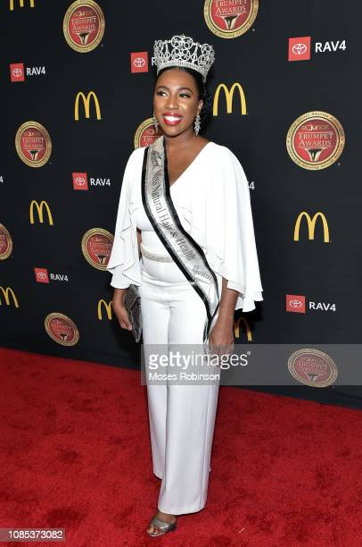 Miss Natural Hair and Health Expo Beauty Jessica Alexander attends the 2019 Bounce Trumpet Awards on January 19 2019 in Atlanta Georgia