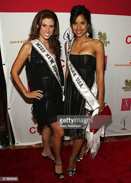 Miss New Jersey USA Jessica Boyington and Miss New York USA Adriana Diaz attend Universal Beauty The Miss Universe Guide To Beauty Launch at Trump...