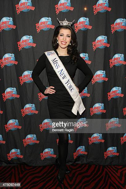 """Miss New York Amanda Mason attends the """"SMART Girls"""" dinner hosted by Miss New York, Amanda Mason at Planet Hollywood Times Square on February 26,..."""