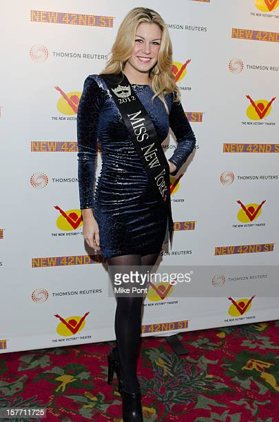 Miss New York Mallory Hagen attends the 2012 New 42nd Street gala at The New Victory Theater on December 5 2012 in New York City