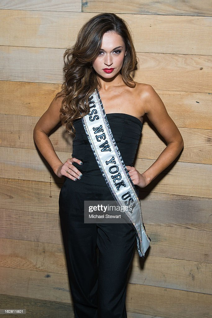 Miss New York USA 2013 Joanne Nosuchinsky attends The ONE Group's Ristorante Asellina celebrates two years on Park Avenue South NYC at Ristorante Asselina on February 27, 2013 in New York City.