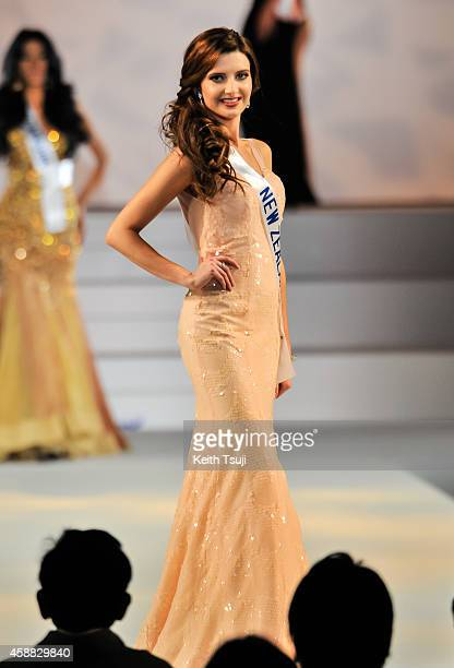Miss New Zealand Rachel Harradence competes during The 54th Miss International Beauty Pageant 2014 at Grand Prince Hotel New Takanawa on November 11...