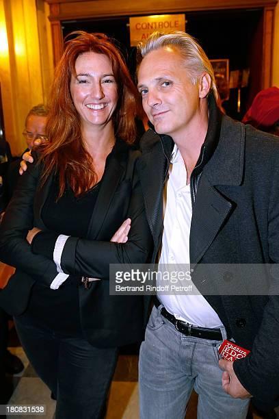 Miss Nicolas Altmayer and Matthieu Petit attend 'Nina' Premiere at Theatre Edouard VII on September 16 2013 in Paris France