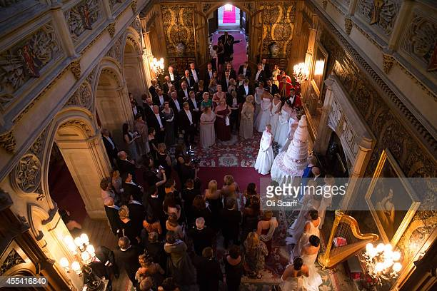 Miss Nicole Gilmer is named as 'Debutante of the Year' during the Queen Charlotte's Ball at Highclere Castle on September 13 2014 near Newbury...
