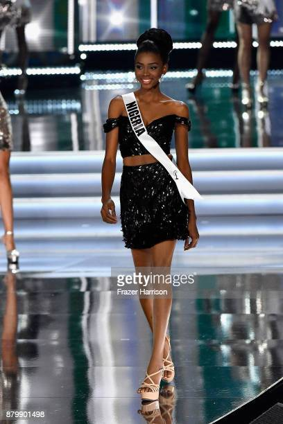 Miss Nigeria 2017 Stephanie Agbasi competes during the 2017 Miss Universe Pageant at The Axis at Planet Hollywood Resort Casino on November 26 2017...
