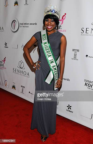 Miss Nigeria America Tokunbo Kujore attends 2012 Inspiration Gala at Royce Hall UCLA on November 4 2012 in Westwood California