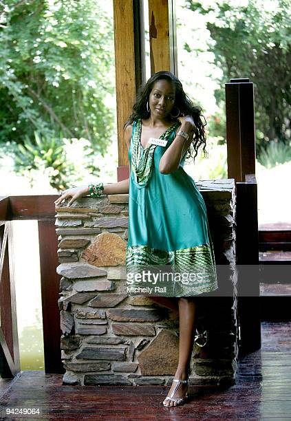 Miss Nigeria Glory Chuku attends a Photocall for Miss World 2009 at Gallagher Convention Centre on December 10 2009 in Johannesburg South Africa