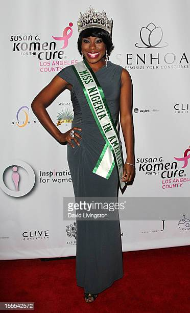 Miss Nigeria in America 2012 Tokunbo Kujore attends the 2nd Annual Inspiration Awards to benefit The Susan G Komen For The Cure at Royce Hall UCLA on...