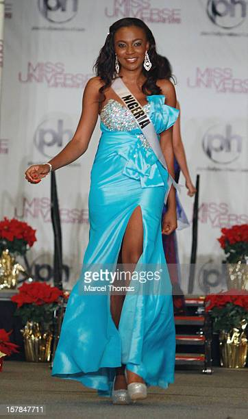 Miss Nigeria Isabella Agbor Ojong Ayuk walks the runway as part of the 2012 Miss Universe Pageant's Official Welcome Event at Planet Hollywood Resort...