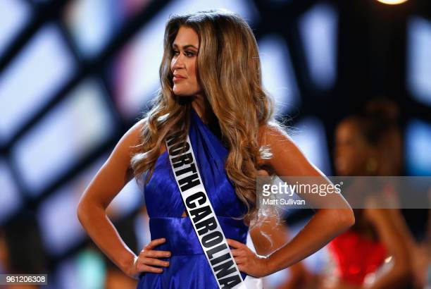 Miss North Carolina Caelynn Millers-Keyes participates in the 2018 Miss USA Competition at George's Pond at Hirsch Coliseum on May 21, 2018 in...